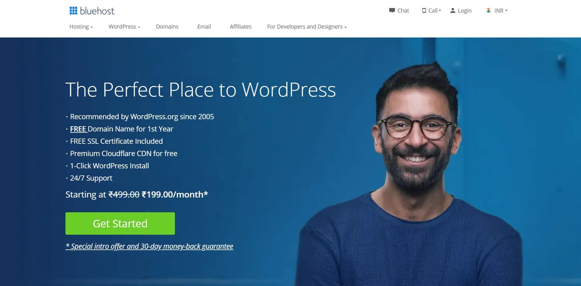 Bluehost the best hosting provider to create a website