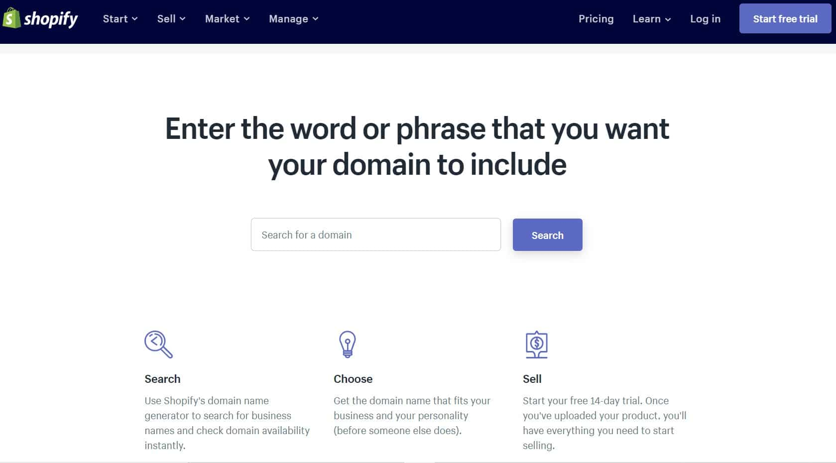 Shopify: The powerful & brandable domain generator tool