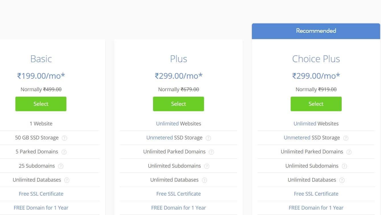 Step 1 - Bluehost Domain Name Availability