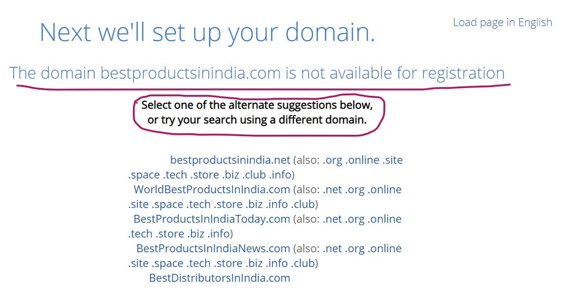 Step 1 - Bluehost Domain