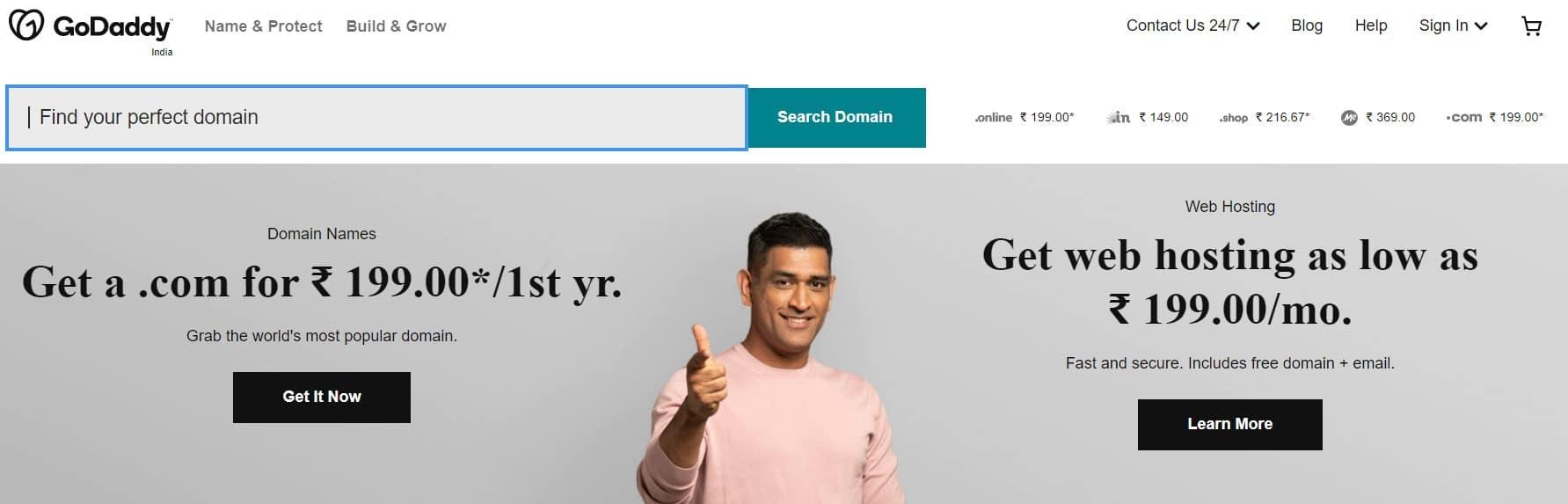 Step1: Buy Domain Name from GoDaddy