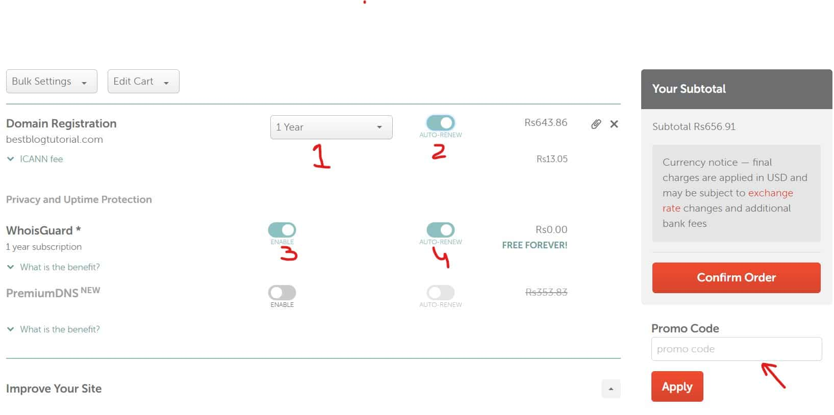 Step 4: Buy Domain Name from Namecheap