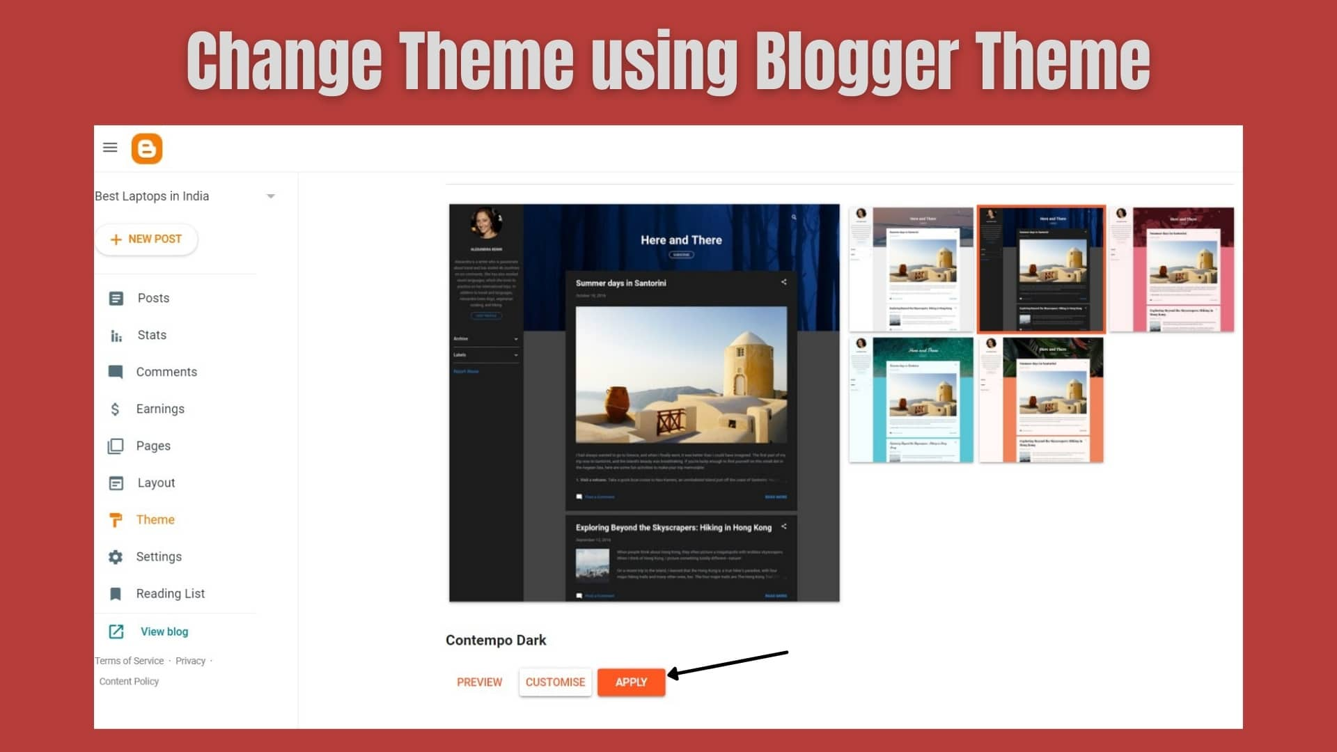 How To Install Theme in a Blogger Blog?