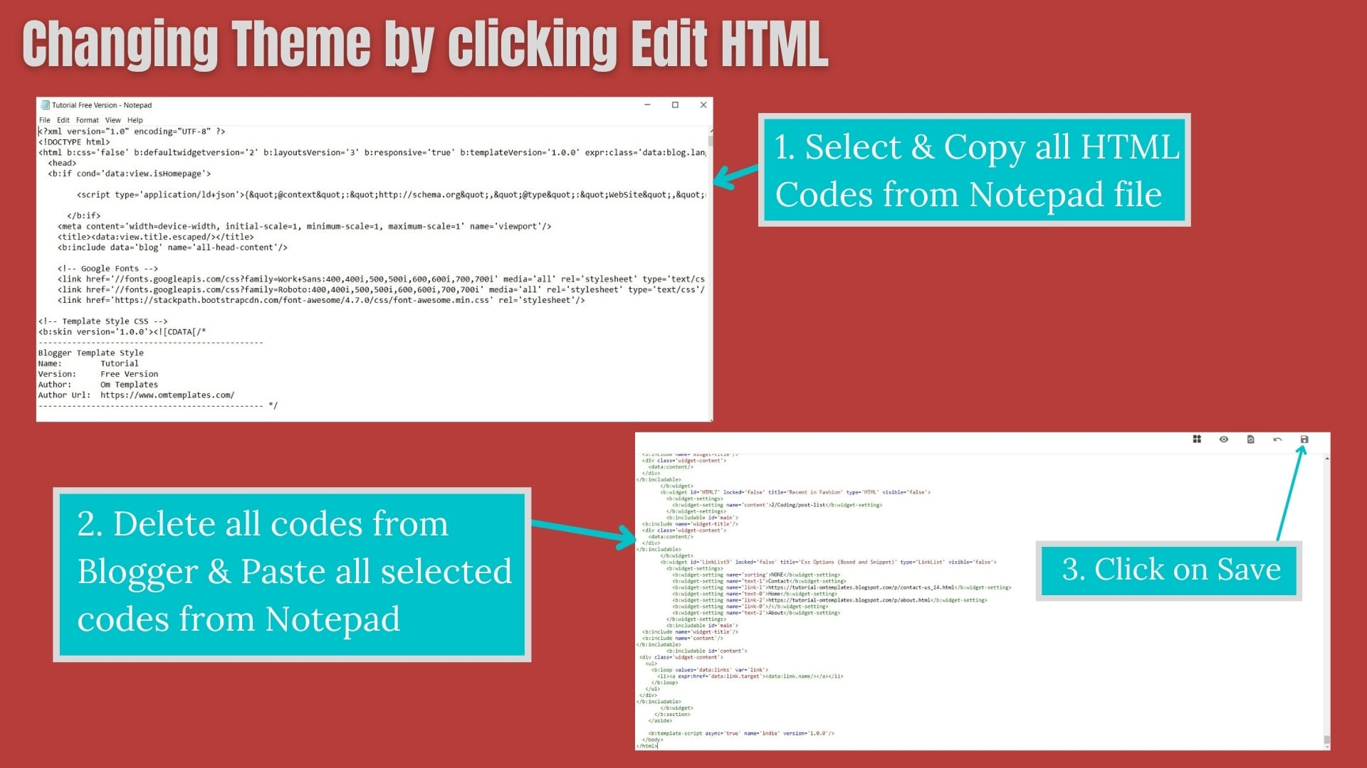 How To change Theme in a BlogSpot